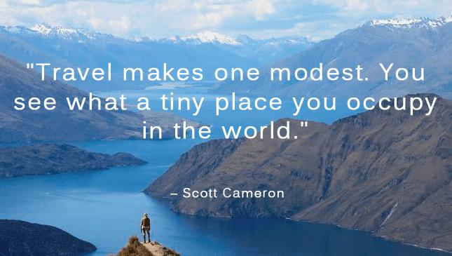 modest travel quote