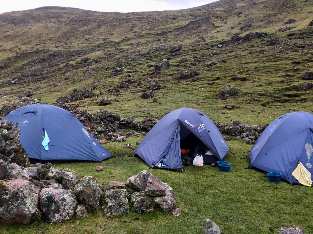 Tents on the Machu Picchu trek