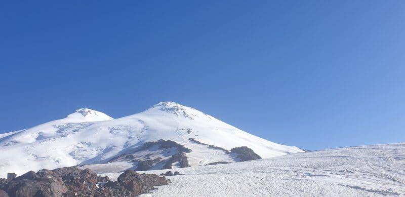 Trekking up Mount Elbrus