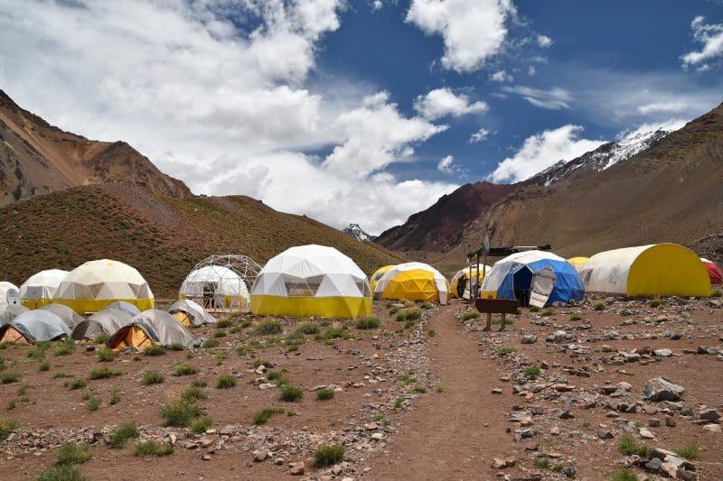 Aconcagua trek Confluencia camp