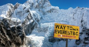Everest Base Camp trek sign