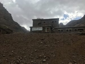 Mount Toubkal trek - the mountain hut