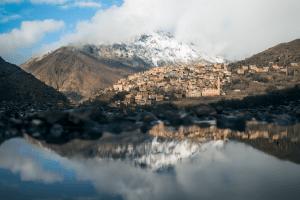 Mount Toubkal trek - mountain views