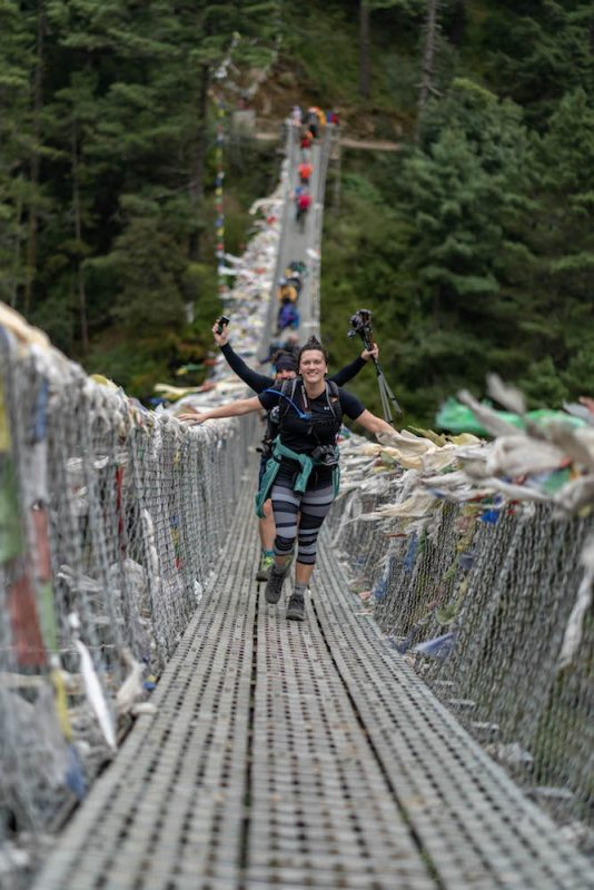 Suspension bridge - Everest trekking