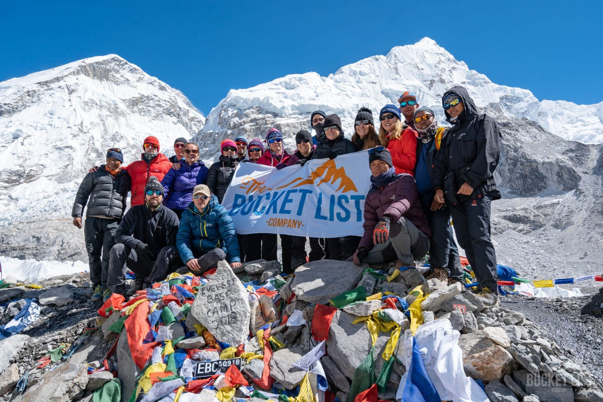 Picture of group at Everest Base camp