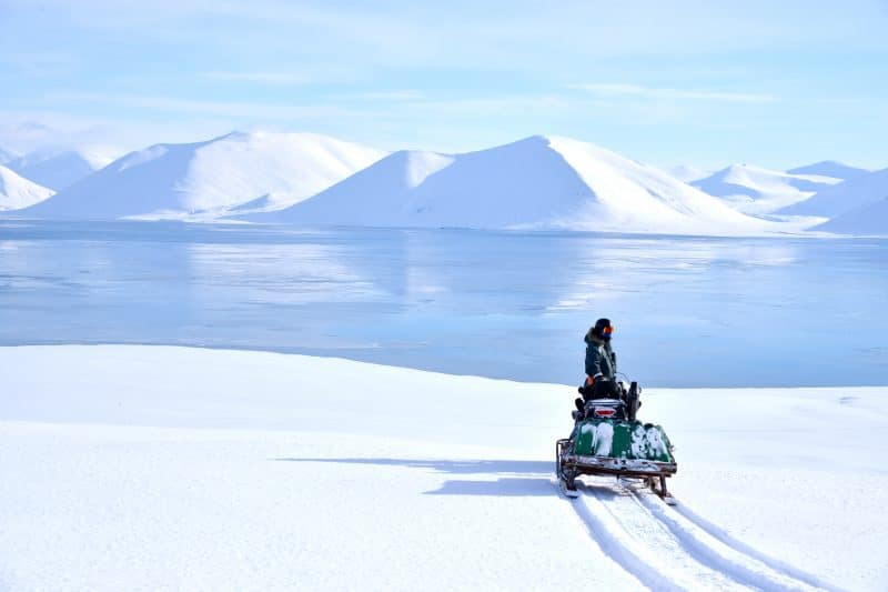 Snowmobiling in Svalbard