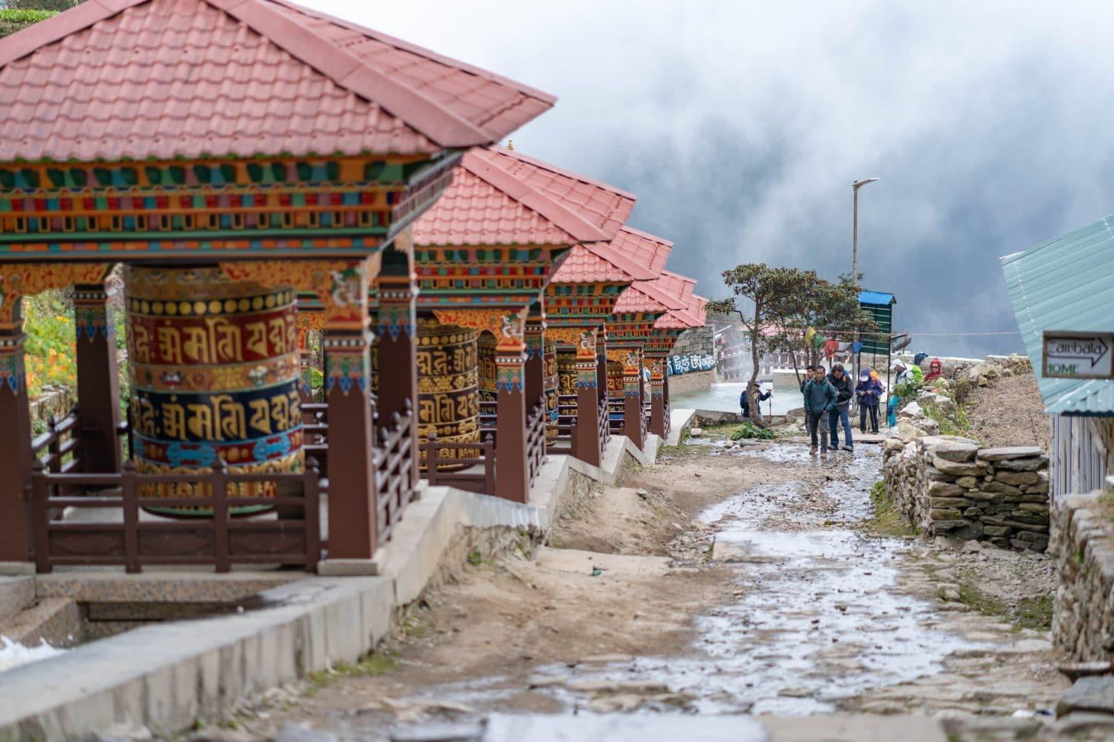 Prayer wheels on the Everest Base Camp trek