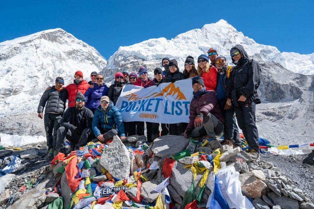 October 2018 group at Everest Base Camp