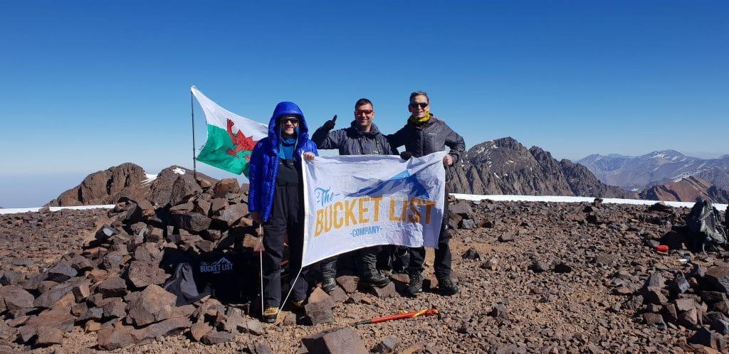 Second summit on the winter mount Toubkal trek
