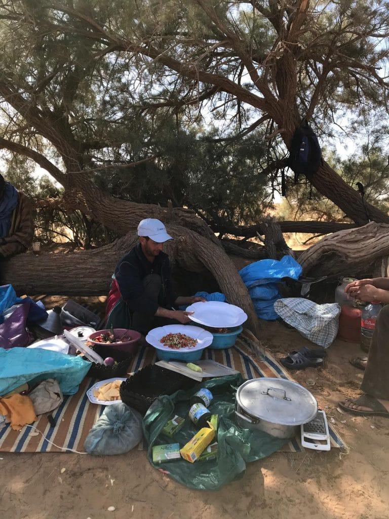 Food on the Sahara Desert trek