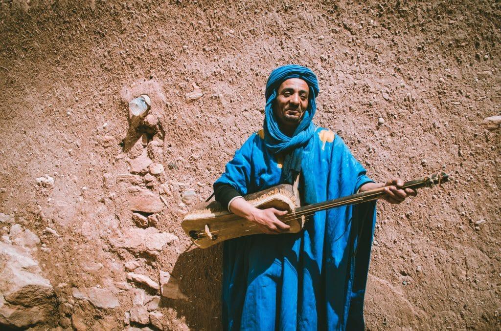 Local Moroccan man singing