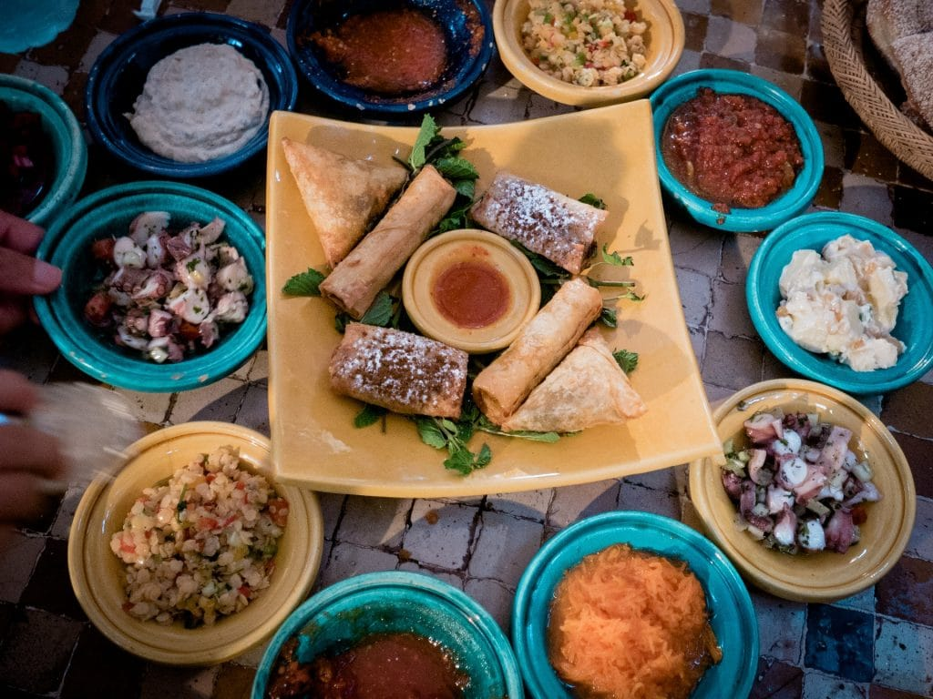 Food in Morocco - food on a Morocco trek