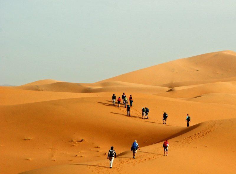 Sahara trekking trip