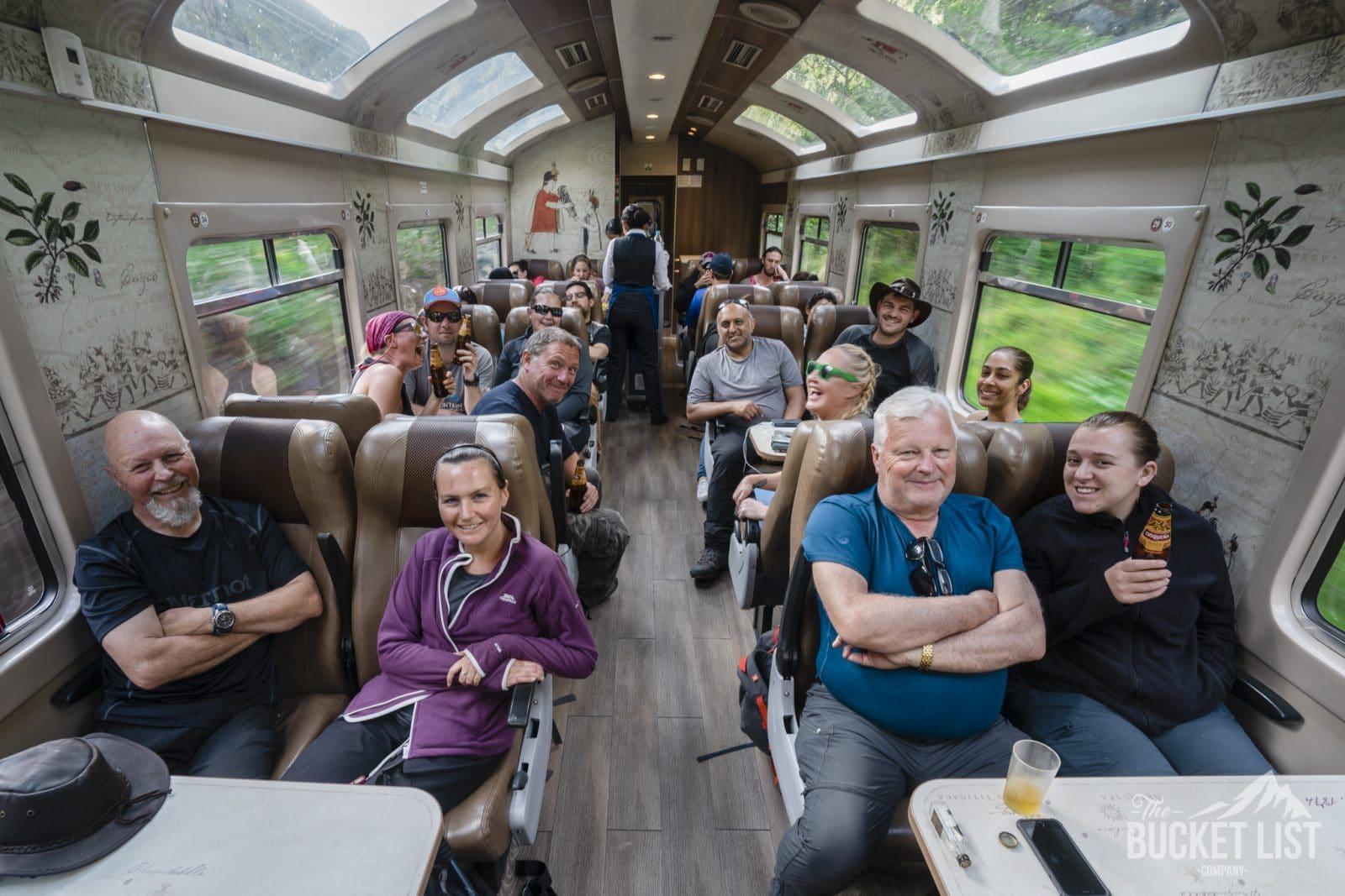 Train form Cusco to Machu Picchu