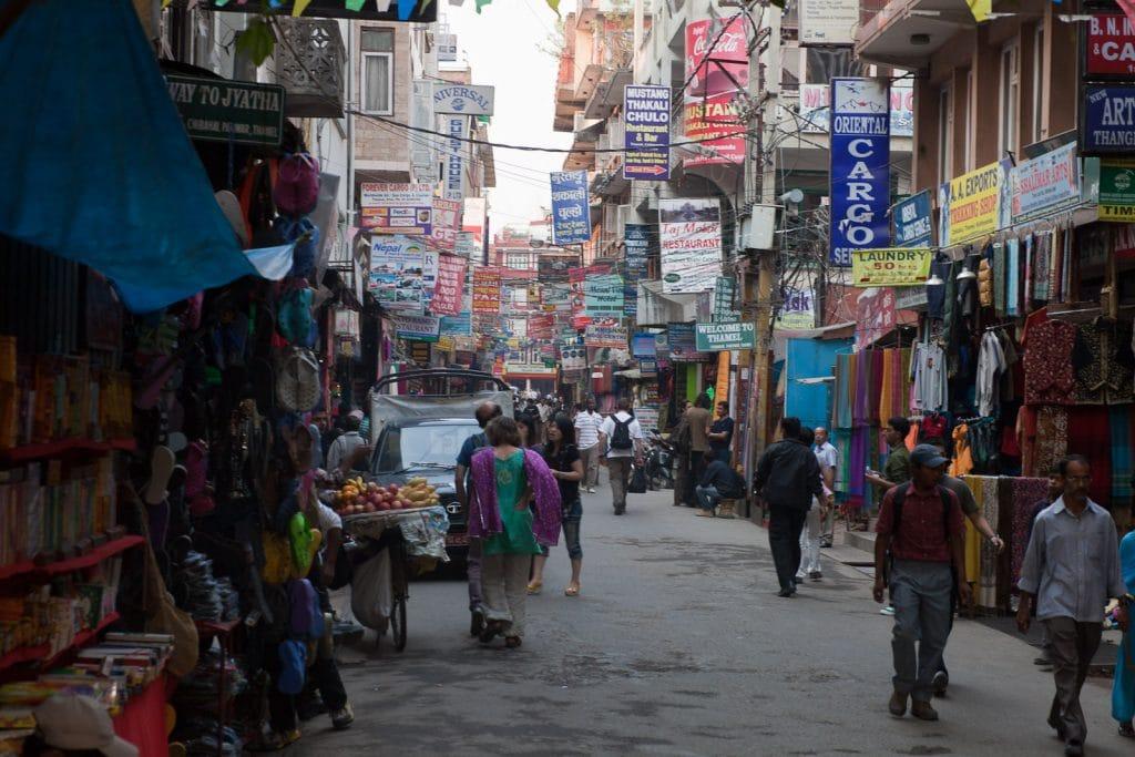 Kathmandu shopping district - Street Scene, Chibahal, Thamel