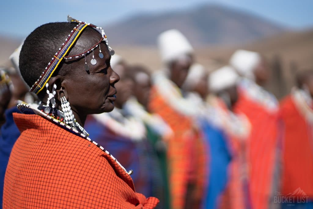 Maasai people on the Kilimanjaro trip