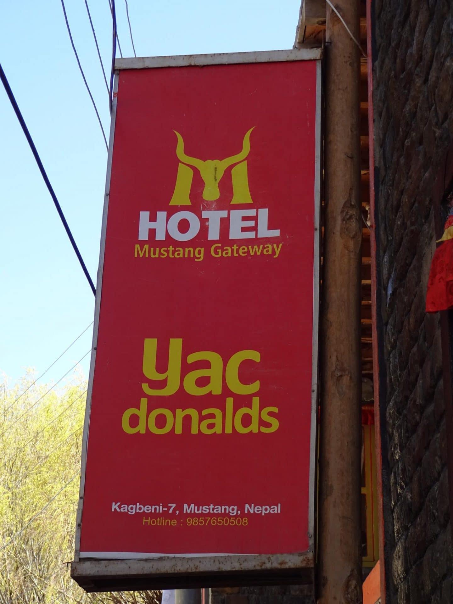 Yac Donald's in Mustang
