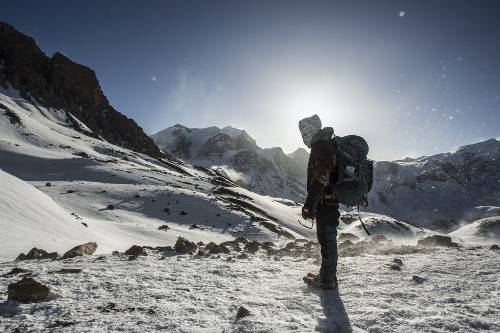 Snowy trails of the Annapurna Circuit tour