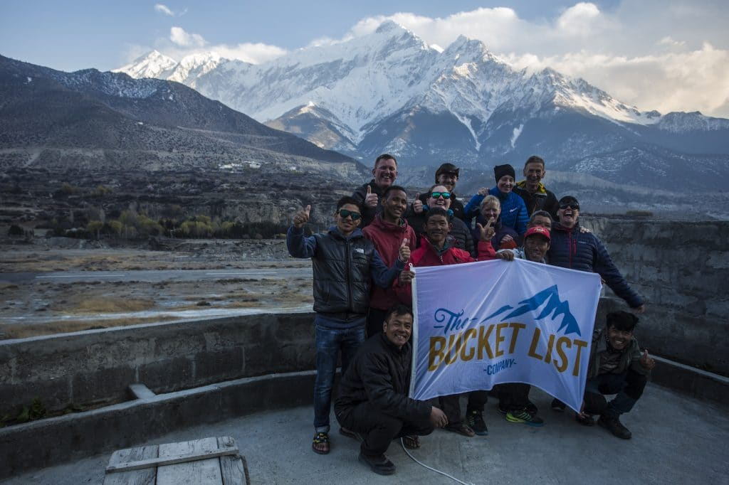 Group photo on the Annapurna Circuit trip