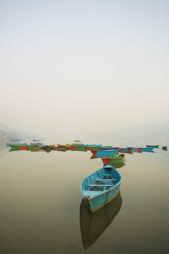 Pokhara Lakes on the Annapurna Circuit trip