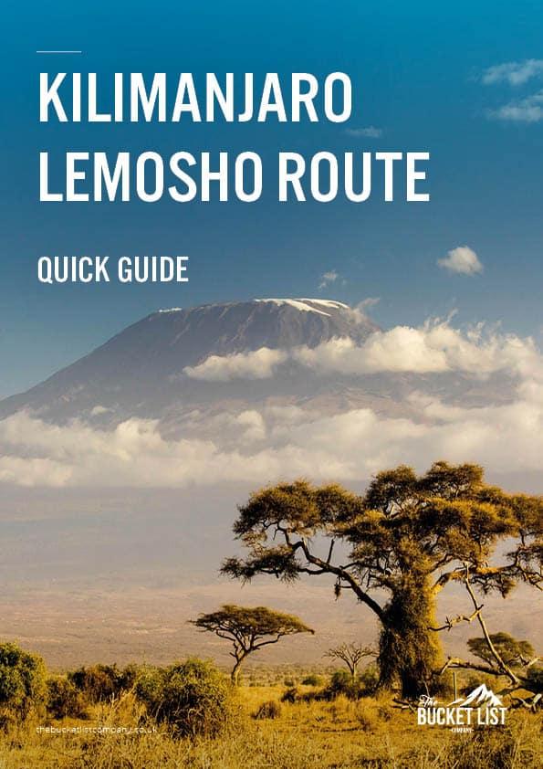 Kilimanjaro Lemosho Route Free Guide