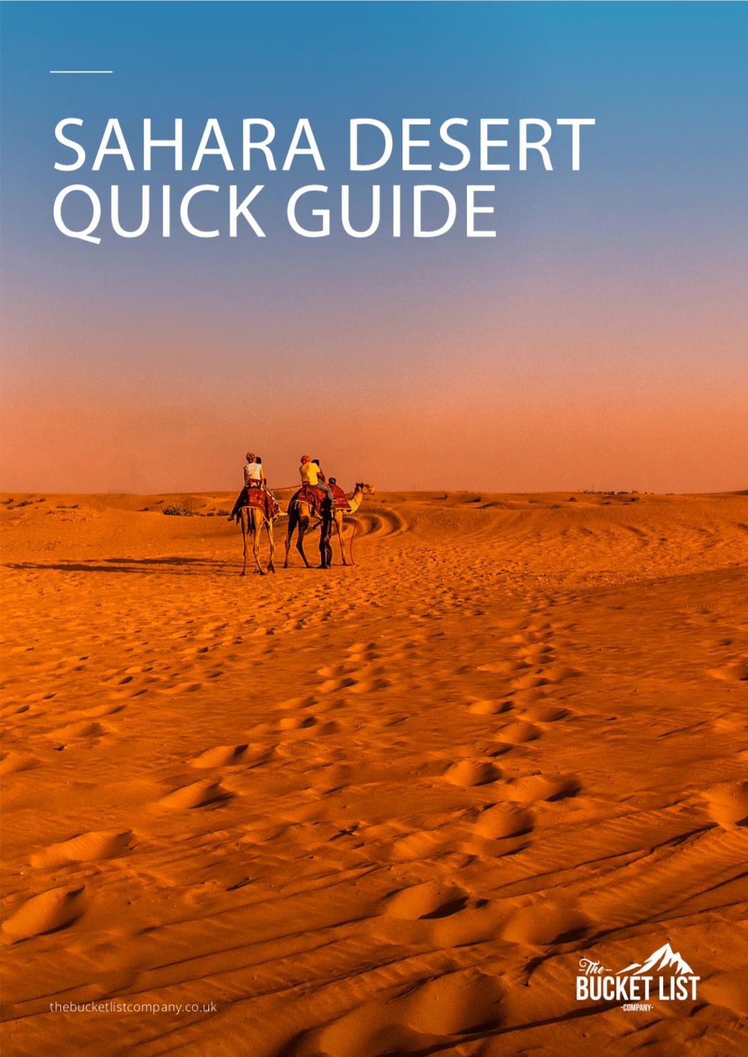 Sahara Desert Trek Free Guide