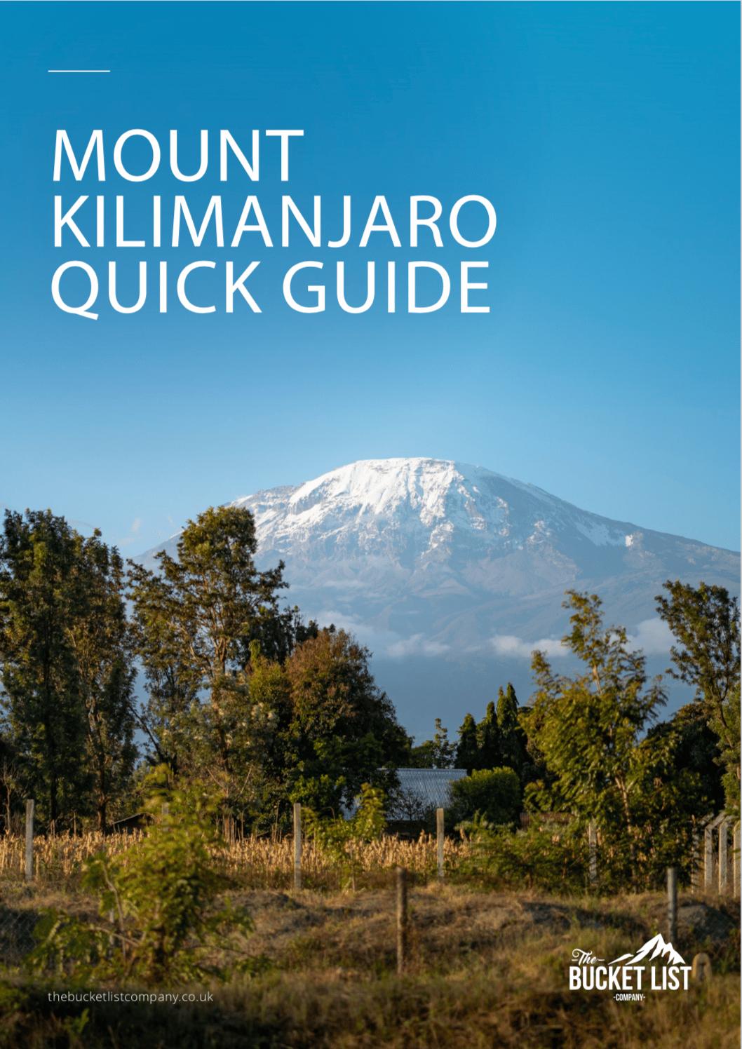 Kilimanjaro Marangu Route Free Guide