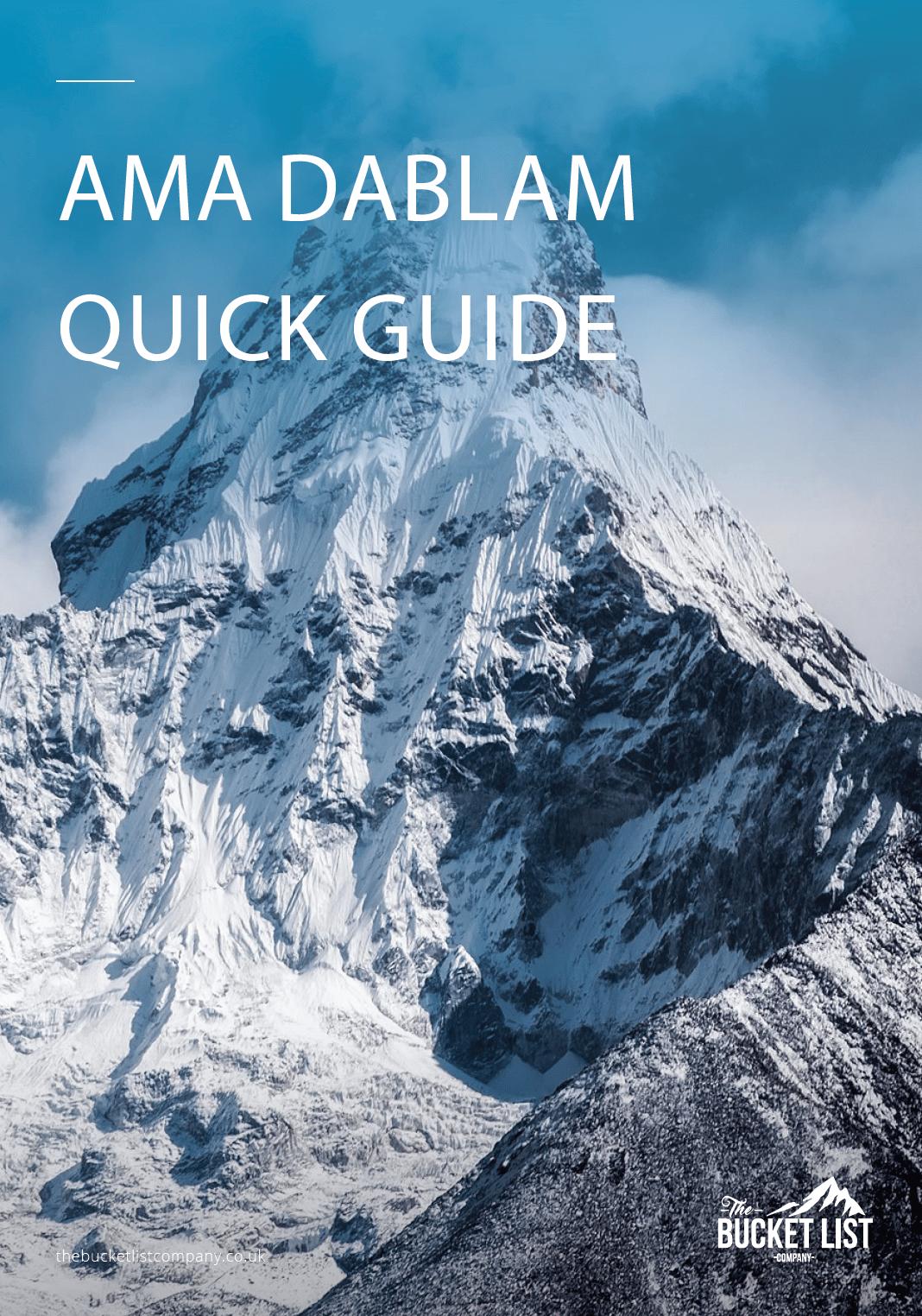 Ama Dablam Free Guide