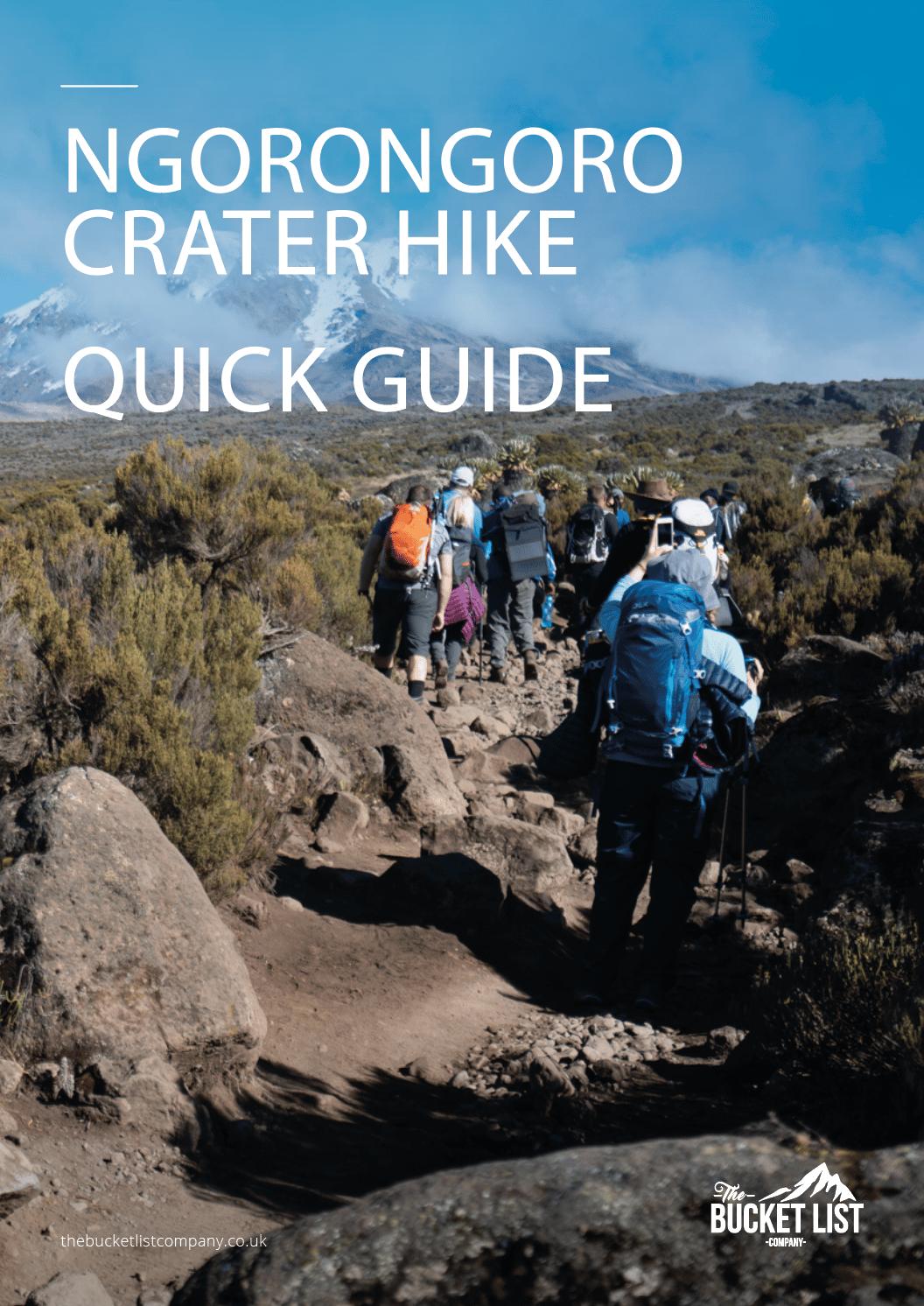 Ngorongoro Highlands Trek Free Guide