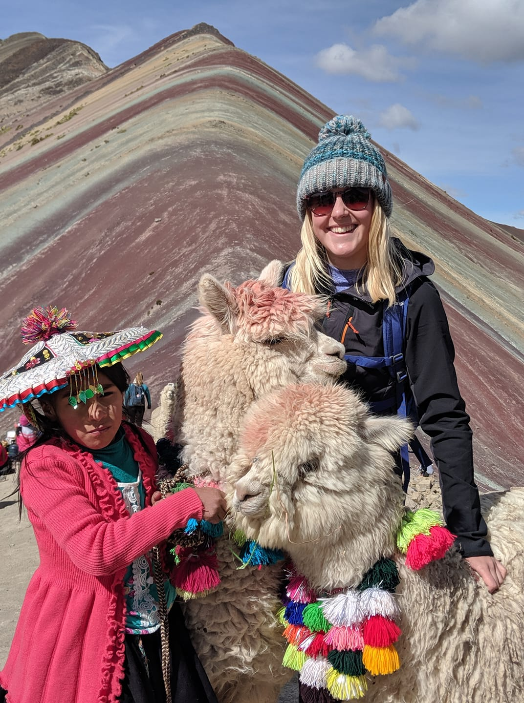 Alpacas on Rainbow Mountain