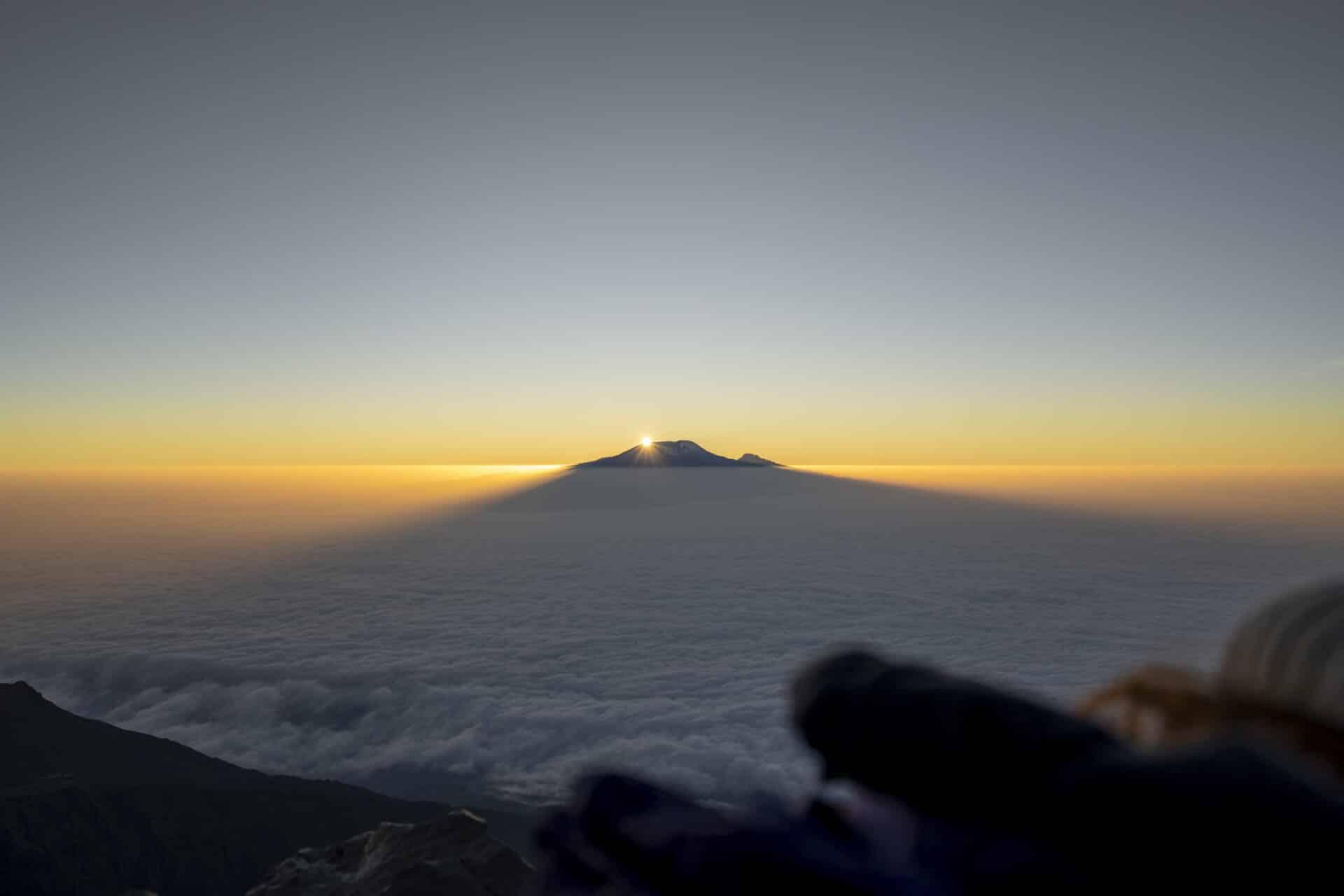 Summit of Kilimanjaro from Mt Meru