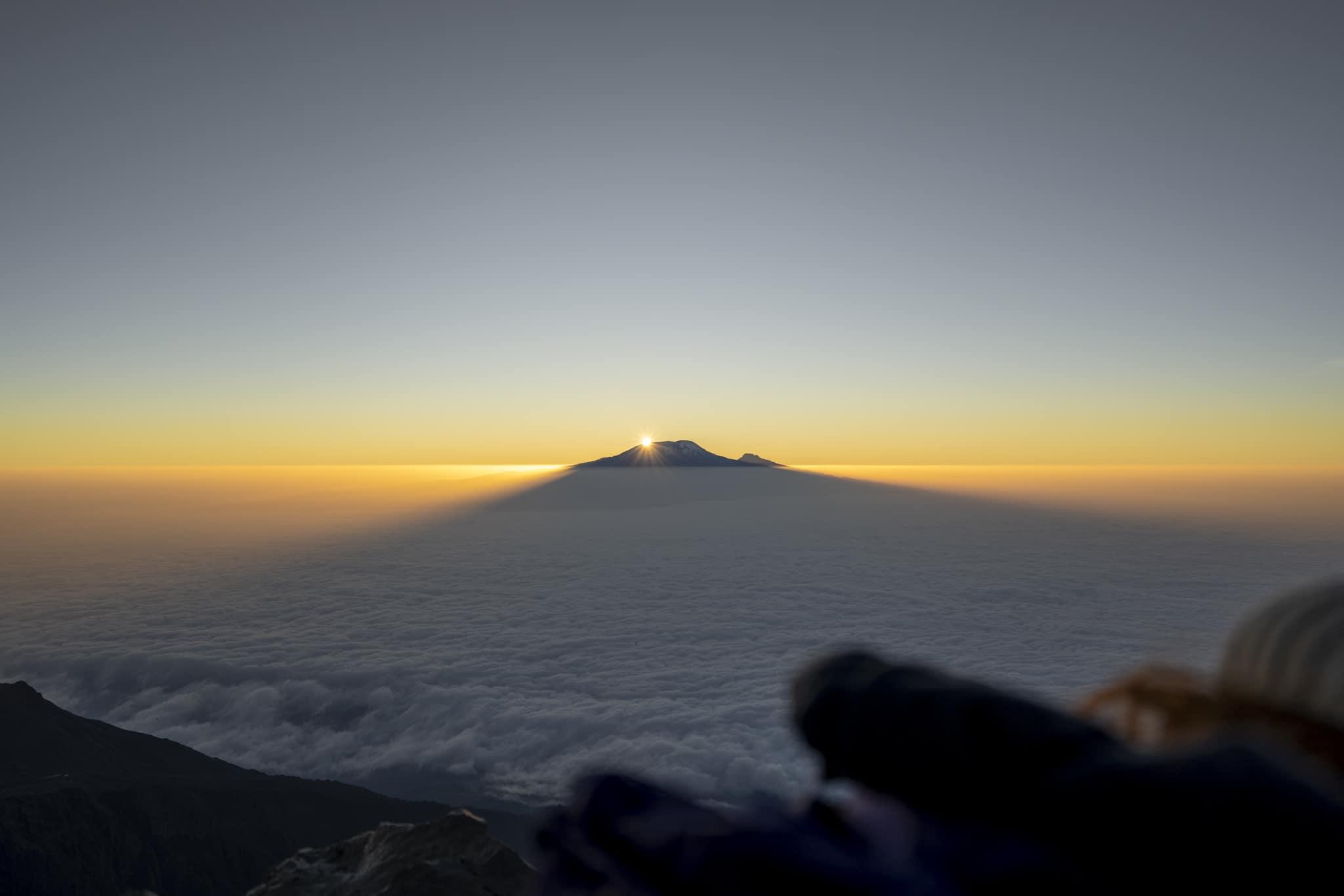 Kilimanjaro from Mt Meru