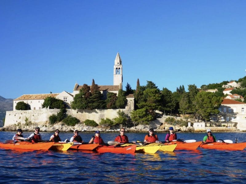 Croatia outdoor adventure trip - kayaking around Lopud