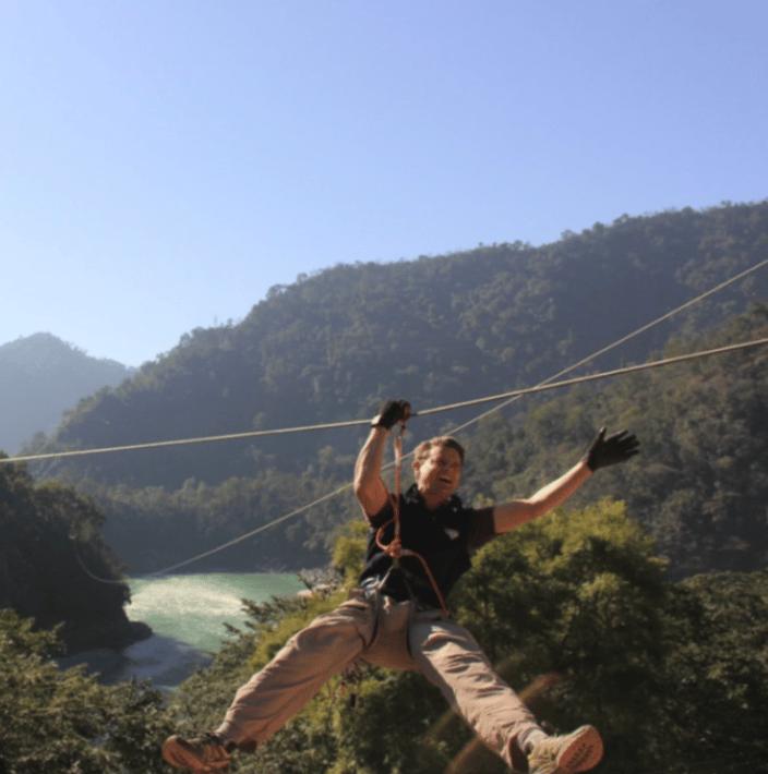 Zip lining in India