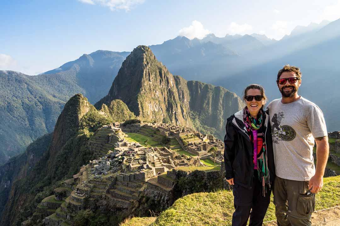 Alesha and Jarryd from Nomadasaurus at Machu Picchu