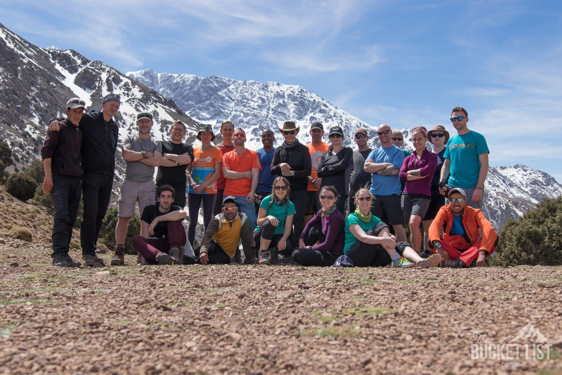 Dave trekking Mount Toubkal