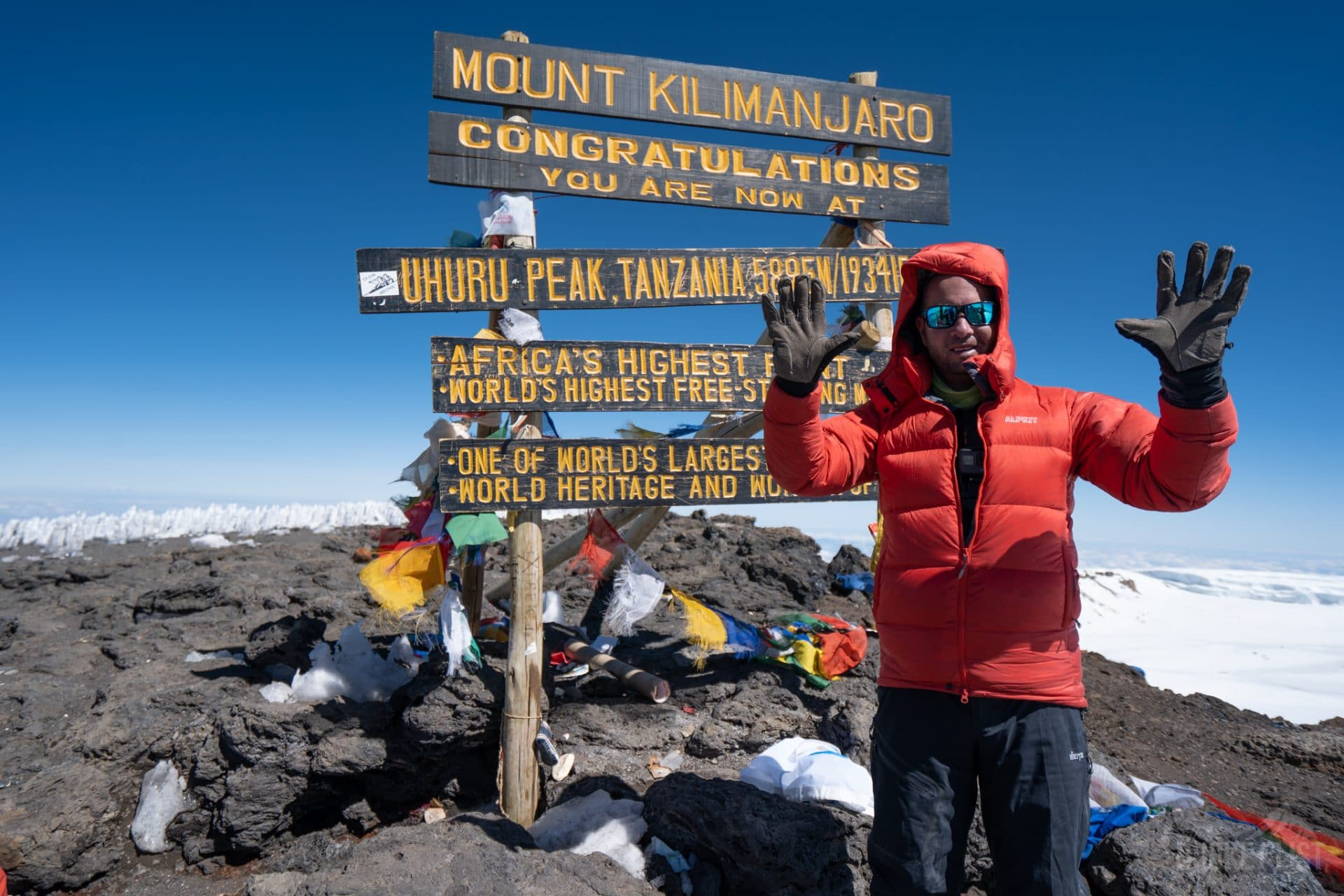 Keith climbing Mount Kilimanjaro for the 10th time