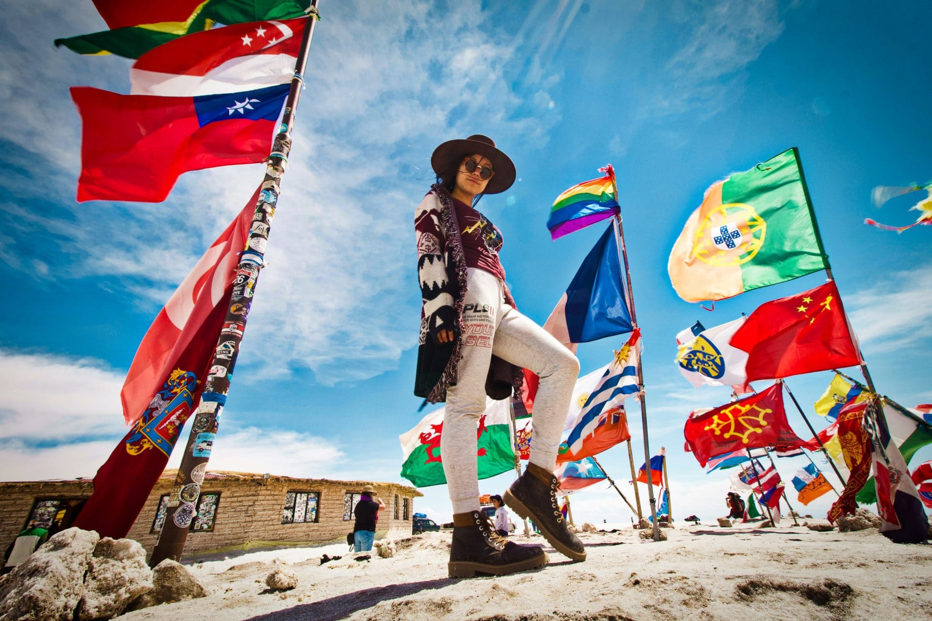 Flags of the world bucket list destinations quiz