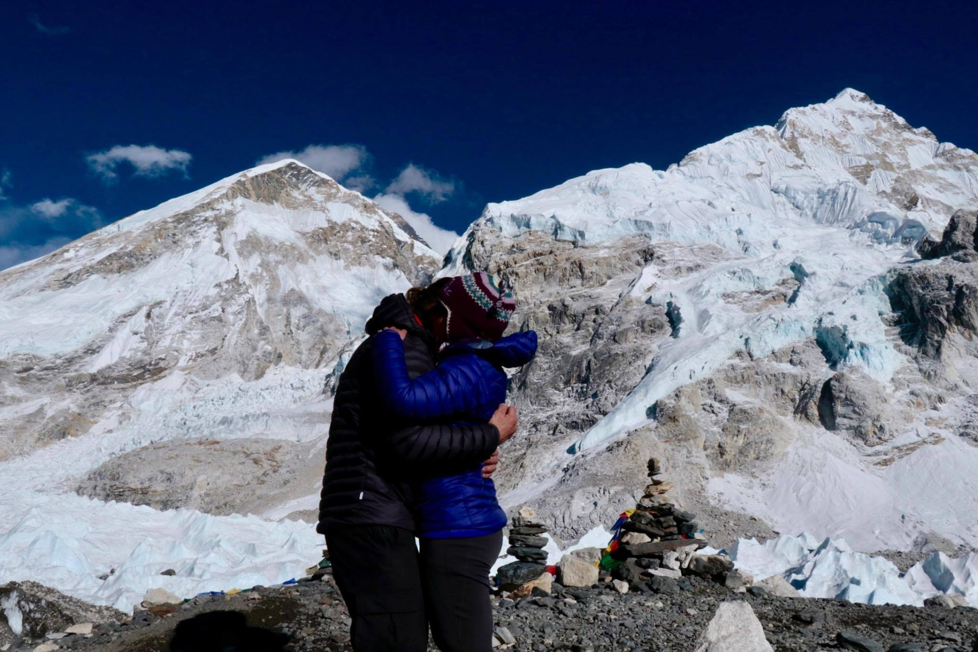 Couple get engaged at Mount  Everest Base Camp