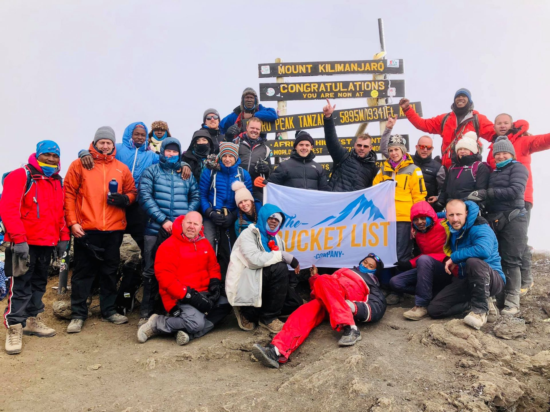 Uhuru Peak, summit photo. Kilimanjaro