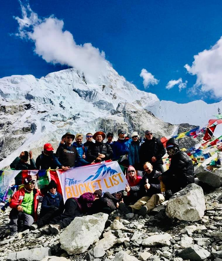 Bucket List Company group at Everest Base camp