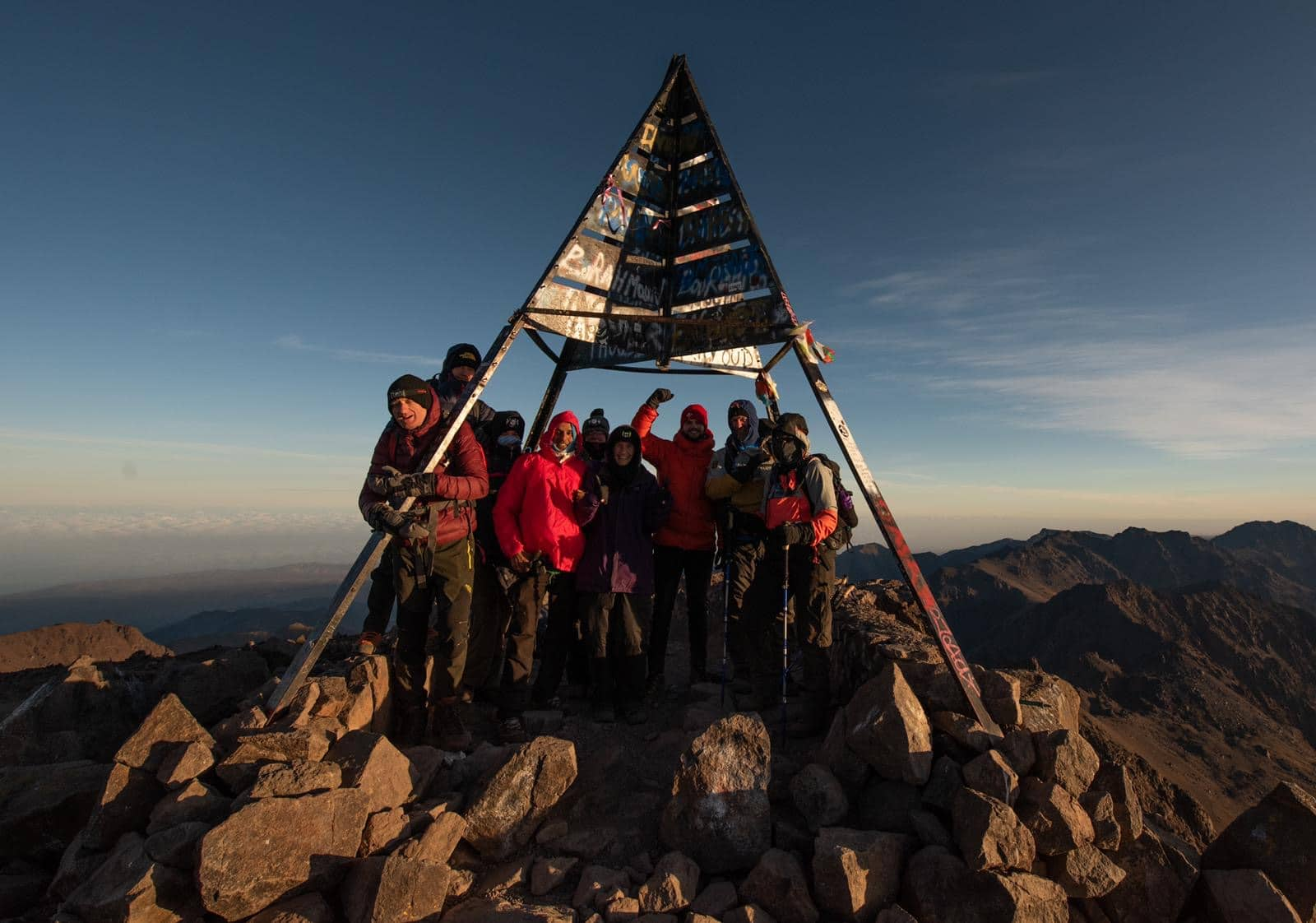 Mount Toubkal summit Morocco