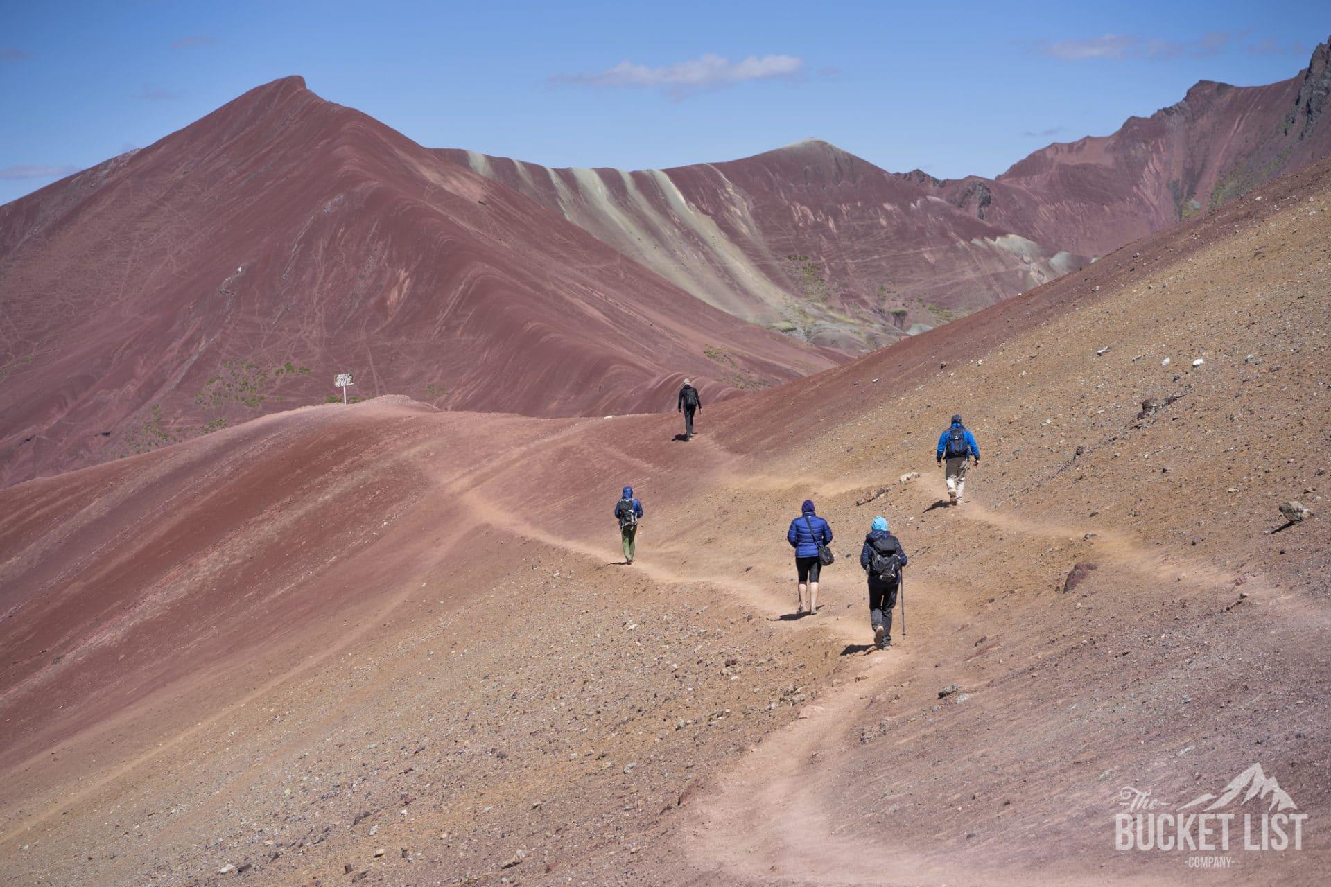 Trekking to Rainbow Mountain