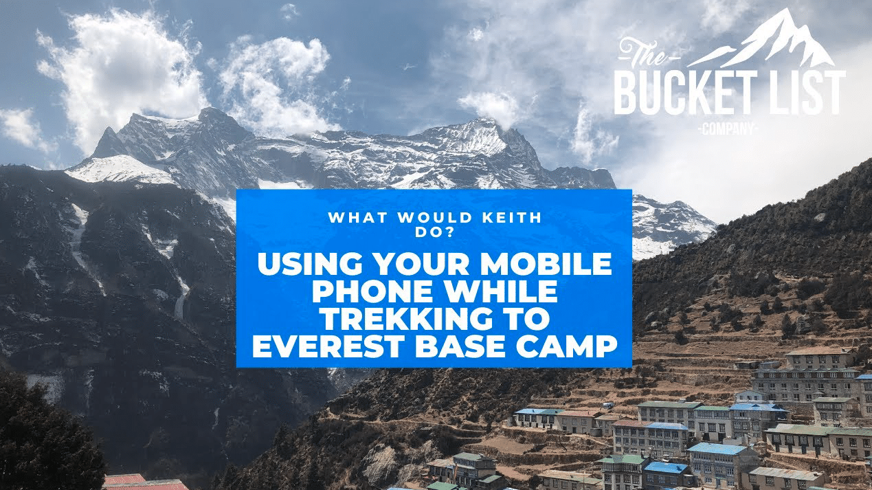 can i use my mobile phone not he Everest base camp trek