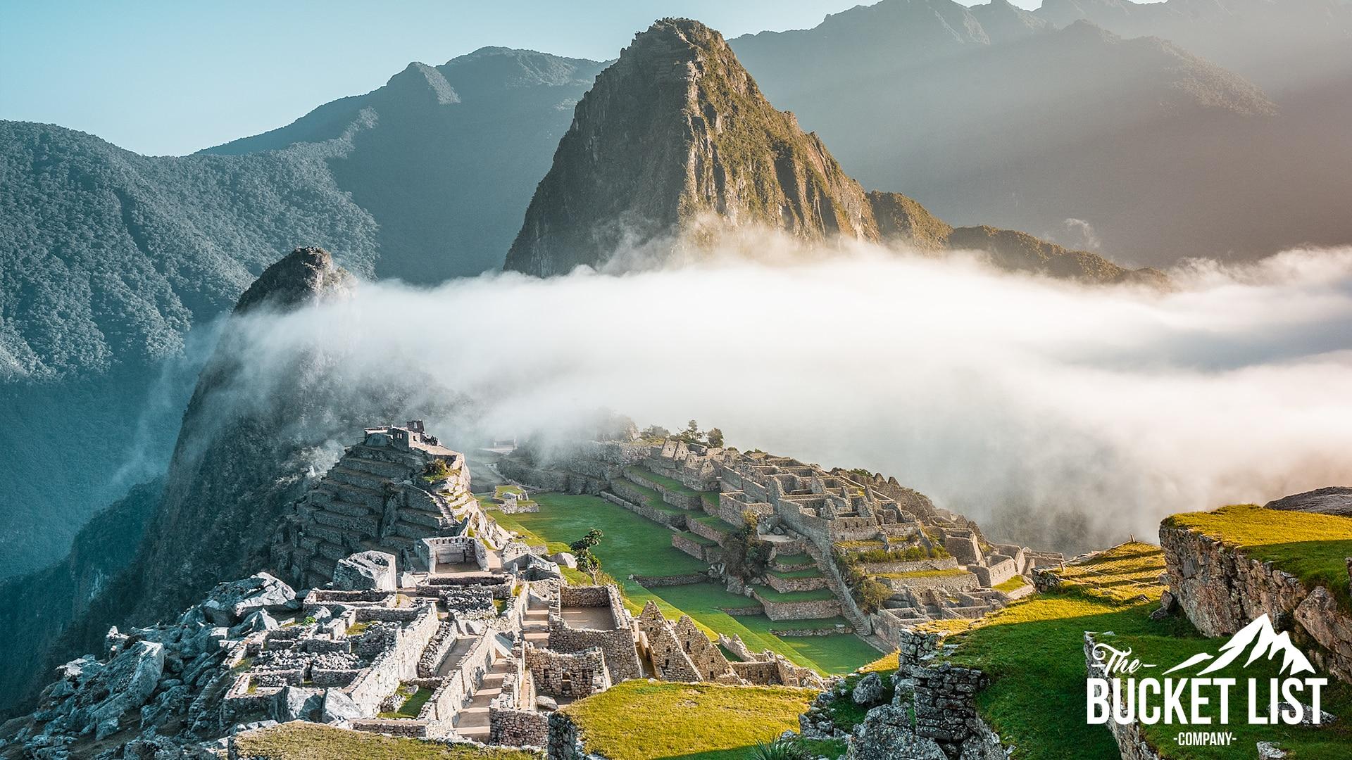 Machu Picchu on a sunny day in Peru