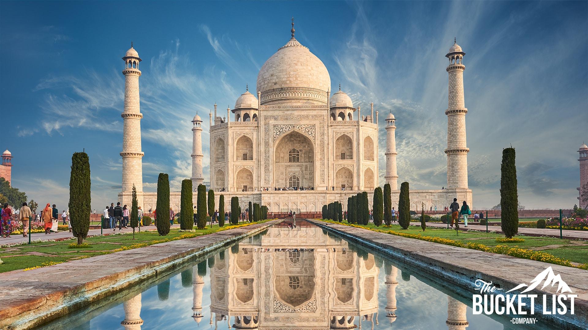 a Photo of the Taj Mahal in India