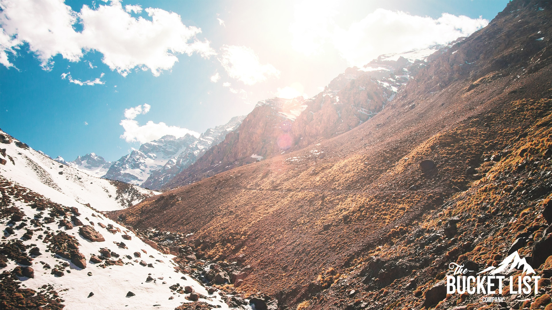 a shot of Mount Toubkal in Morocco