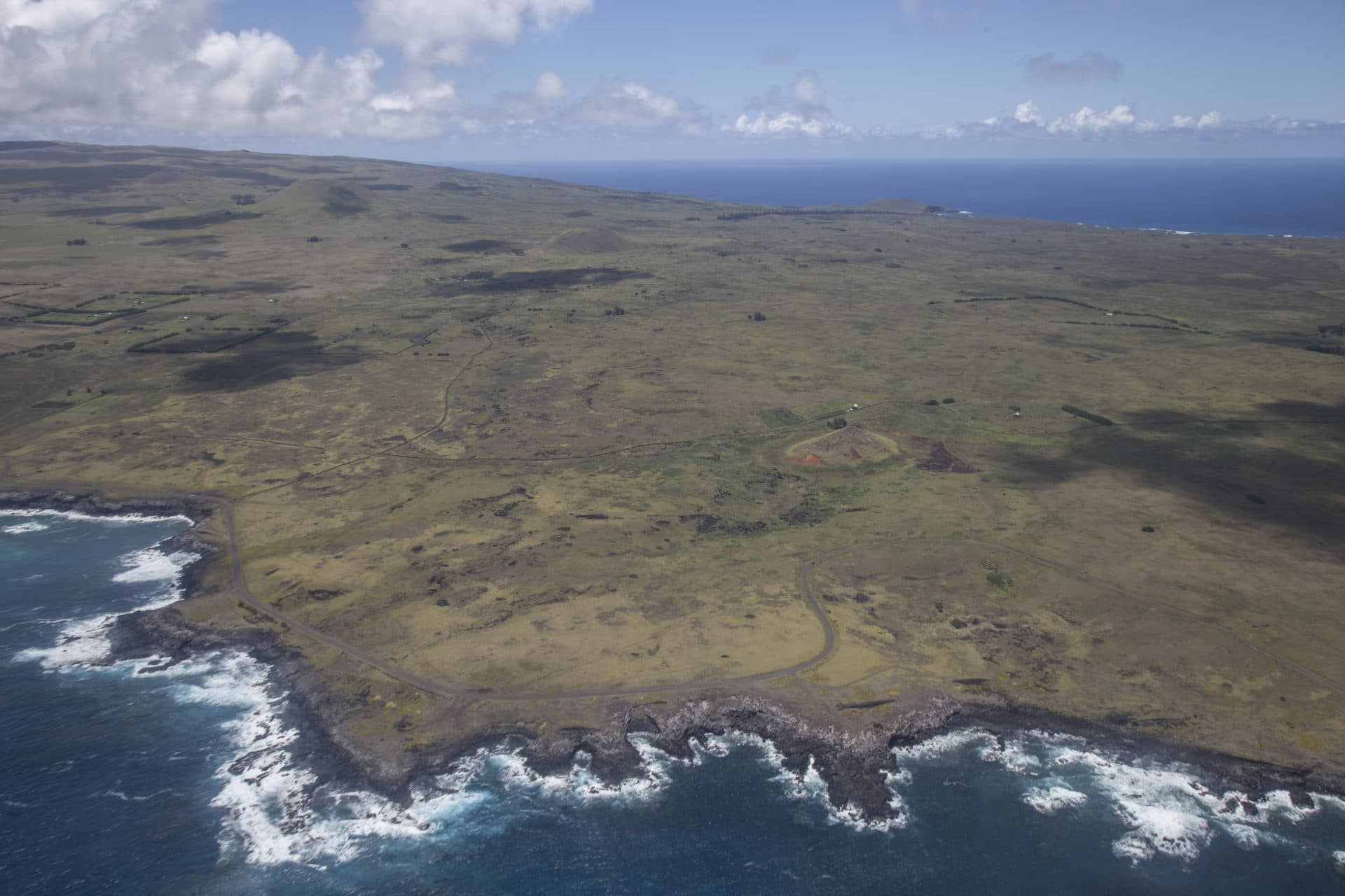 Aerial View of Easter Island