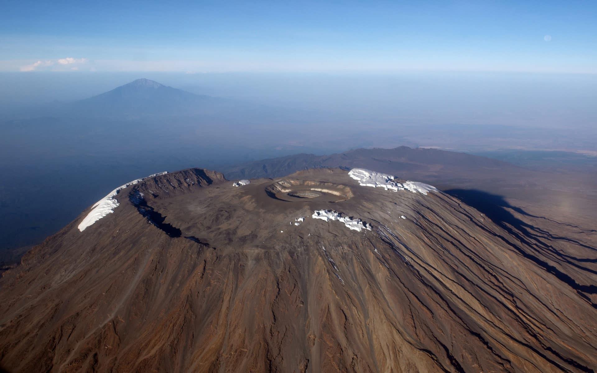 Kilimanjaro and Kibo from above