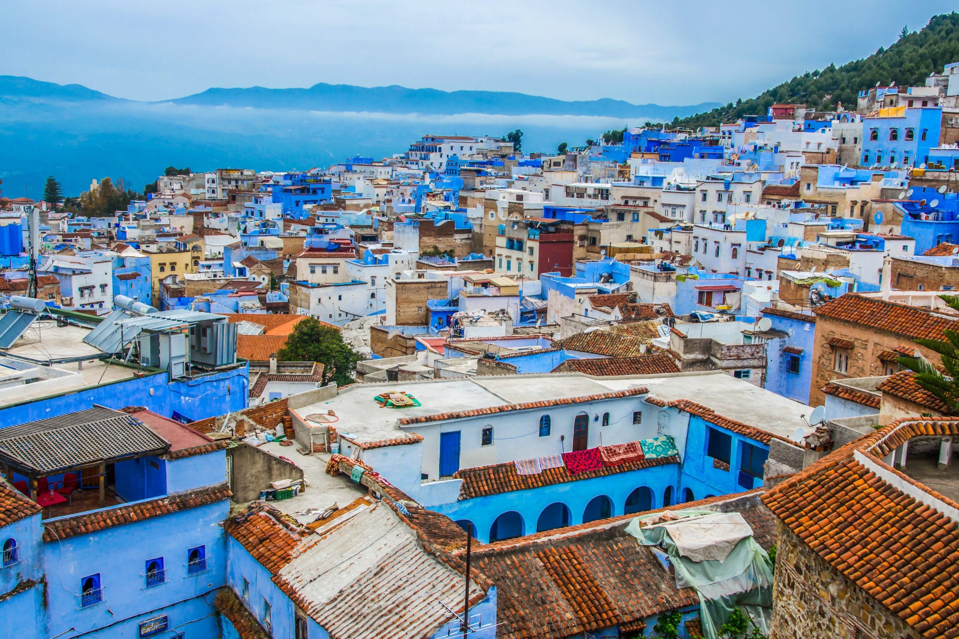 view look over Chefchaouen
